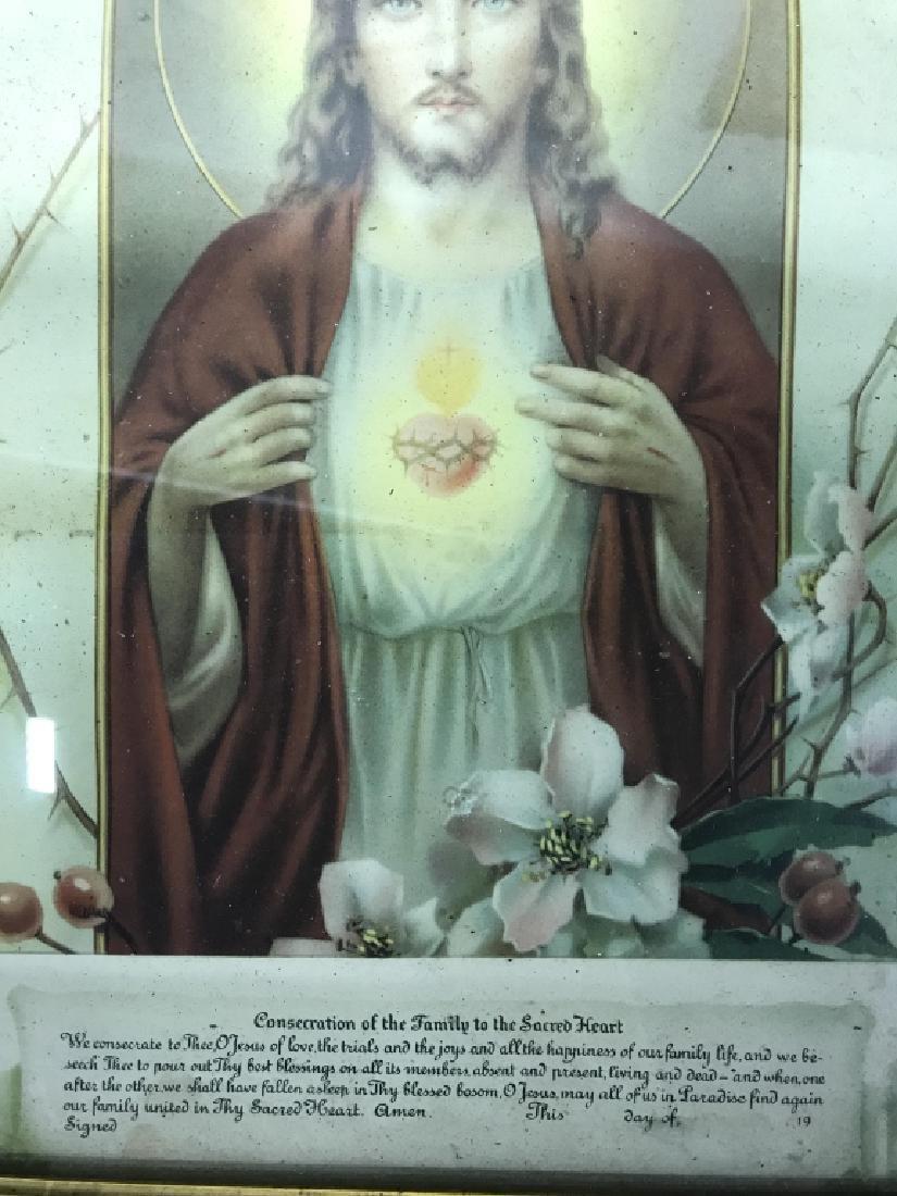 Vintage Framed Jesus Christ Art Print - 3