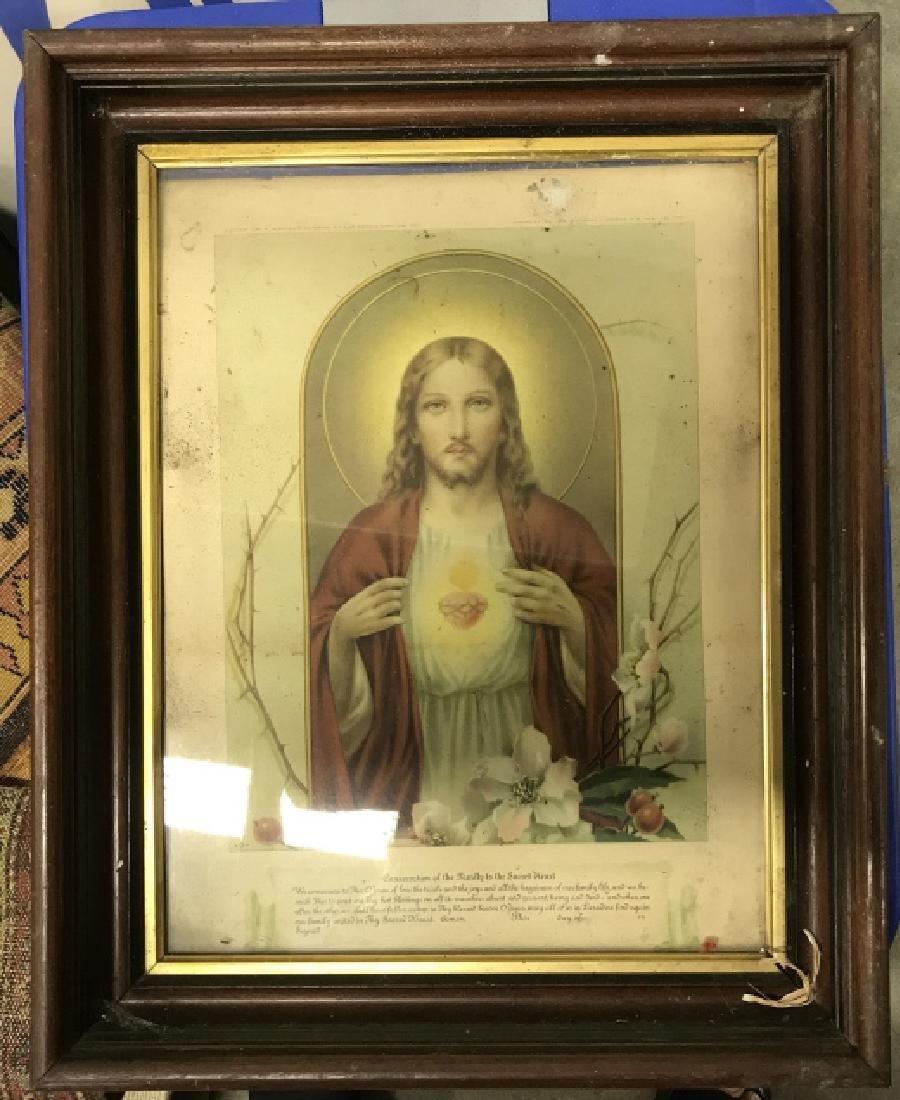 Vintage Framed Jesus Christ Art Print - 4
