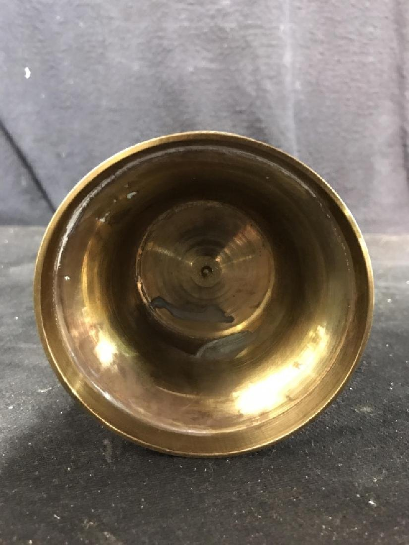 Gold Toned Indian Style Brass Vase - 6