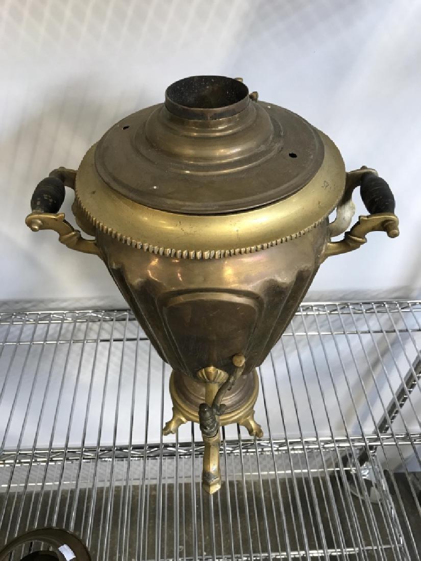 Vintage Gold Toned Brass Samovar - 3