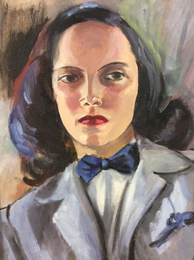 Vintage Painting of Woman In a Suit - 2