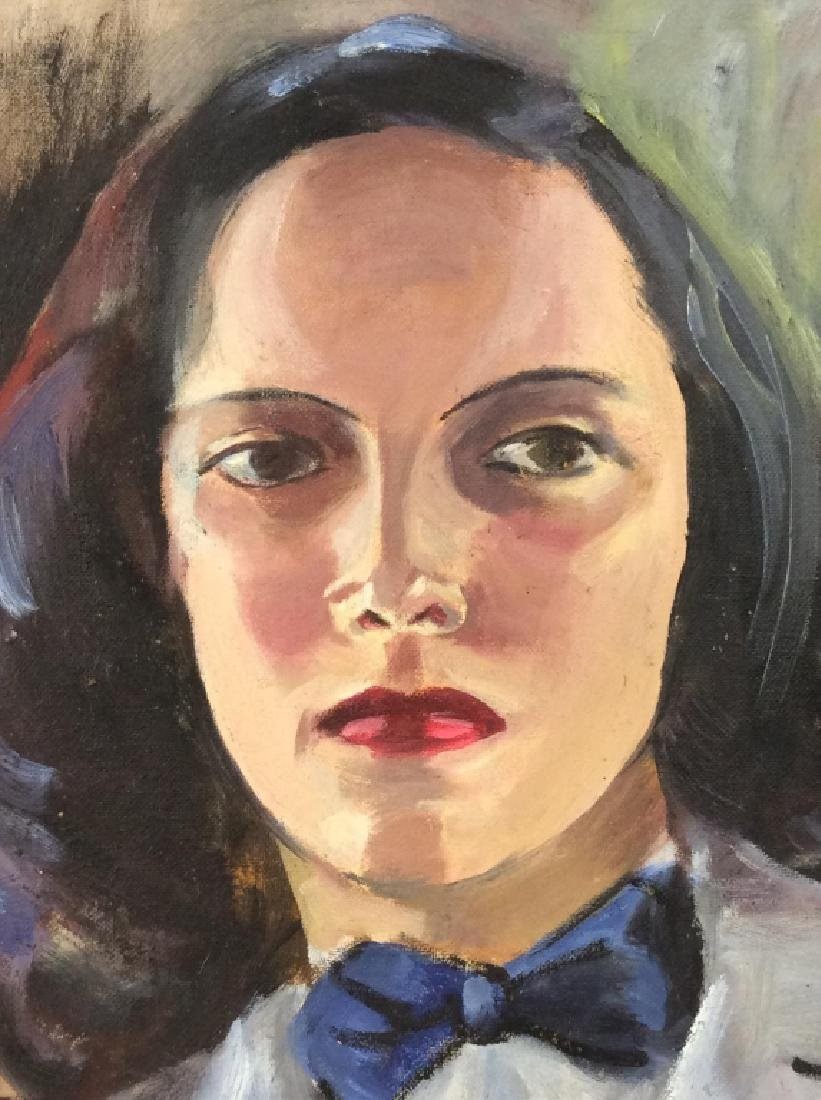 Vintage Painting of Woman In a Suit - 3