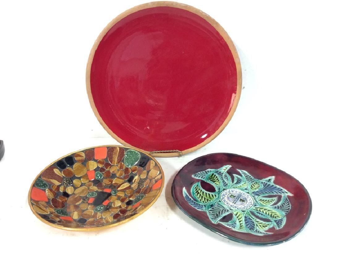Lot 3 Stoneware Pottery Centerpieces