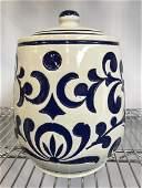Vintage Ceramic Salt Glaze Cookie Jar