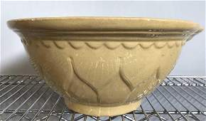 Vintage Yellow Ware Ceramic Bowl