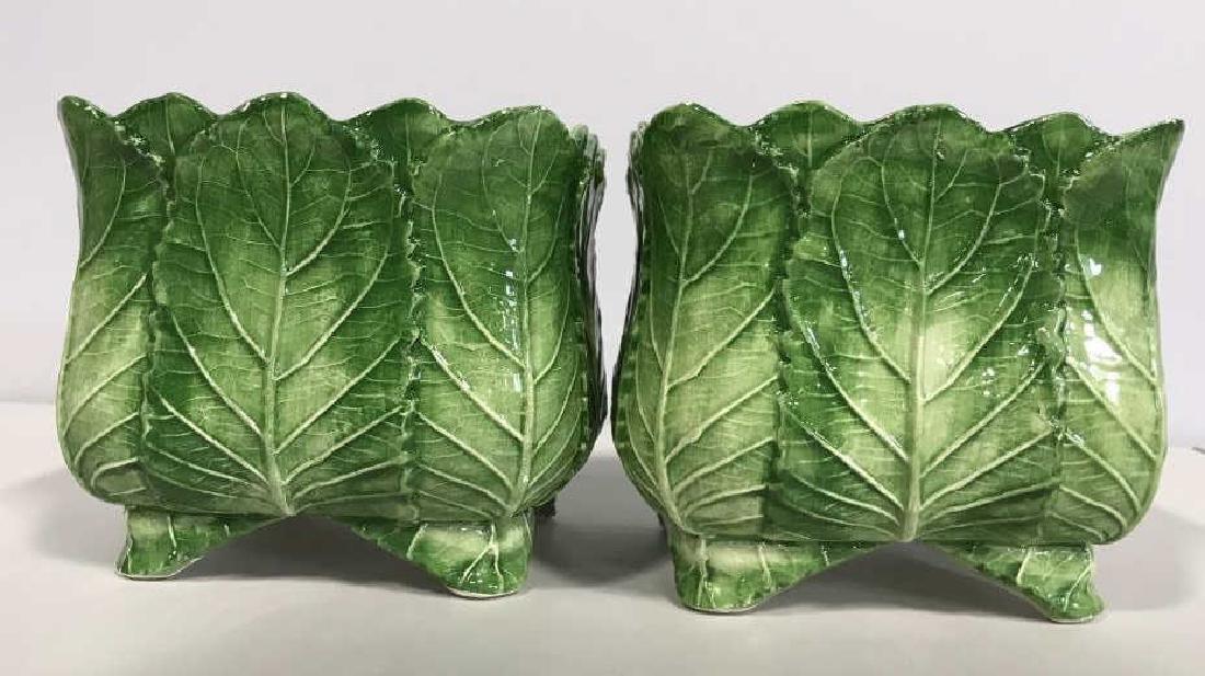Pair VIETRI Ceramic Cache Pots