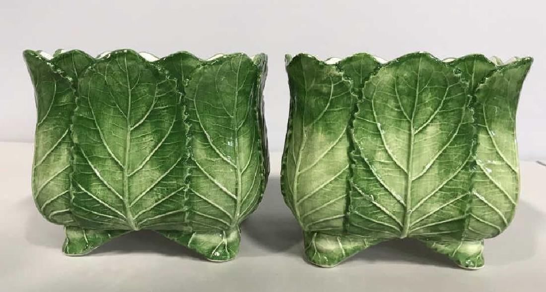 Pair VIETRI Ceramic Cache Pots - 2