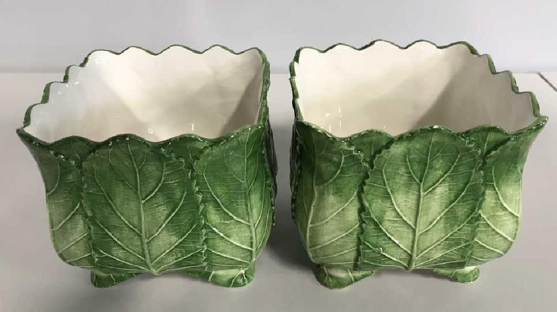 Pair VIETRI Ceramic Cache Pots - 3