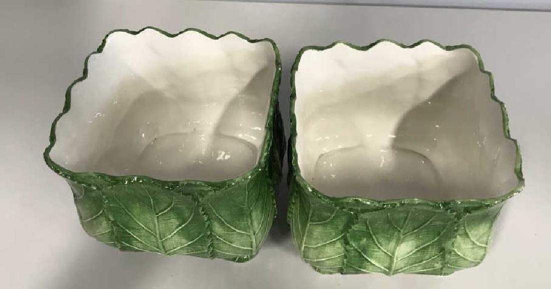 Pair VIETRI Ceramic Cache Pots - 4