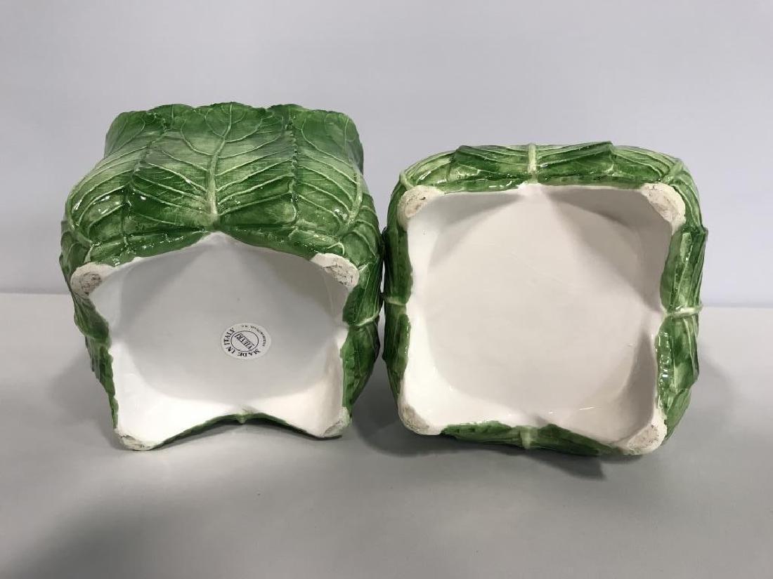 Pair VIETRI Ceramic Cache Pots - 5