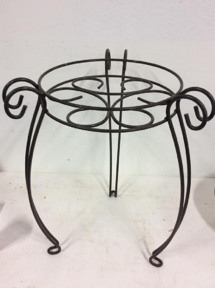 Curling Metal Plant Stand - 5