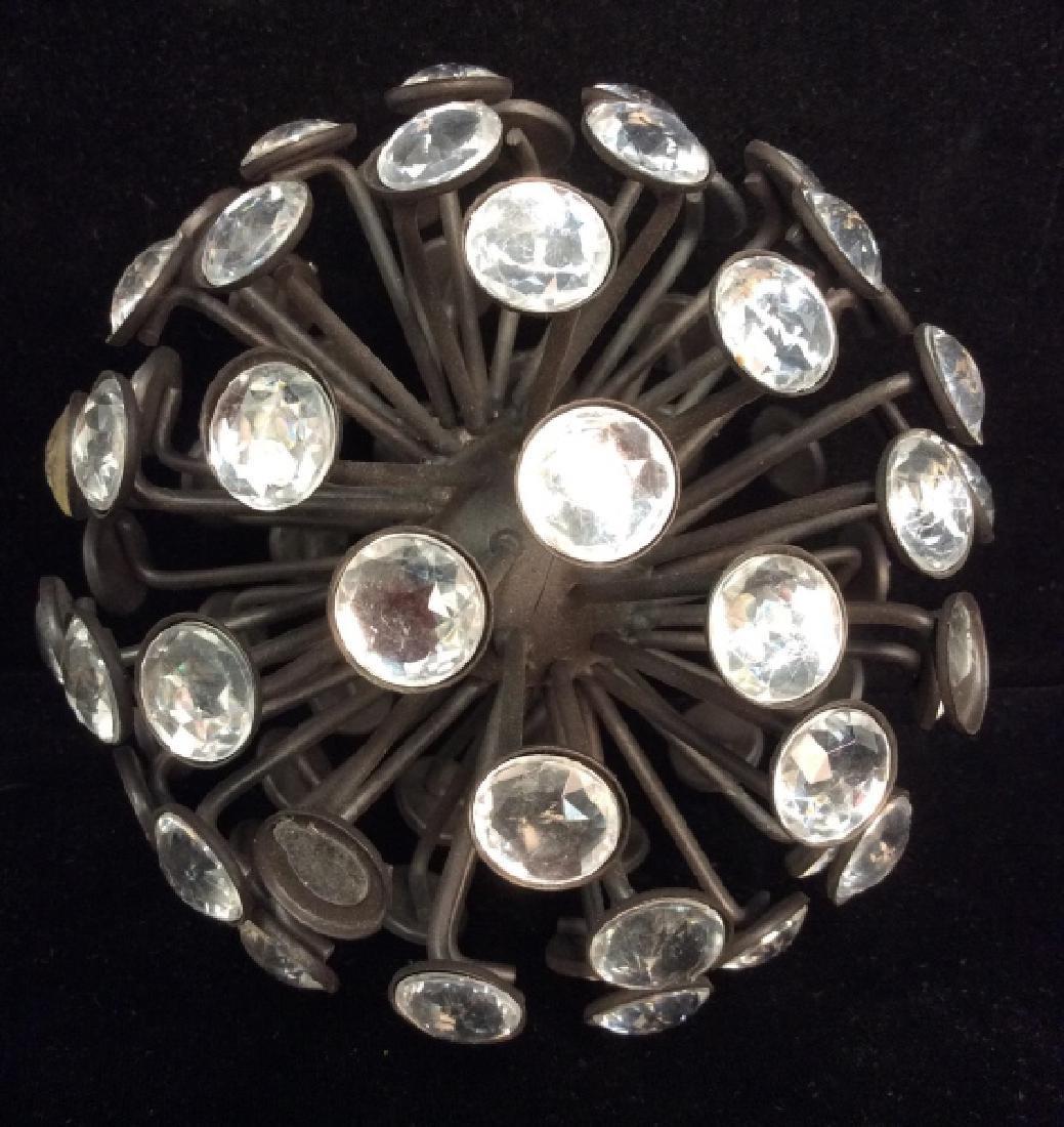 Rhinestone and Metal Sphere Sculpture