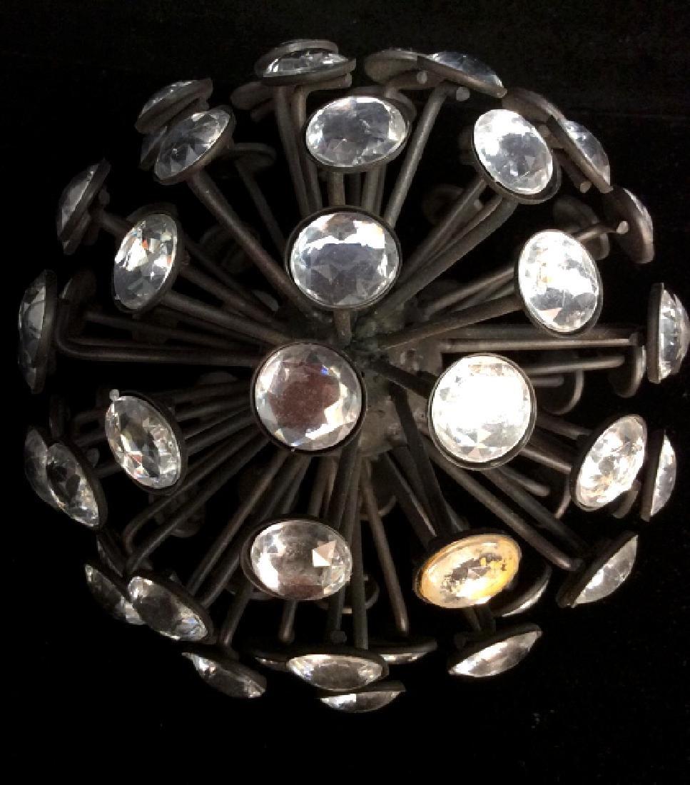 Rhinestone and Metal Sphere Sculpture - 6