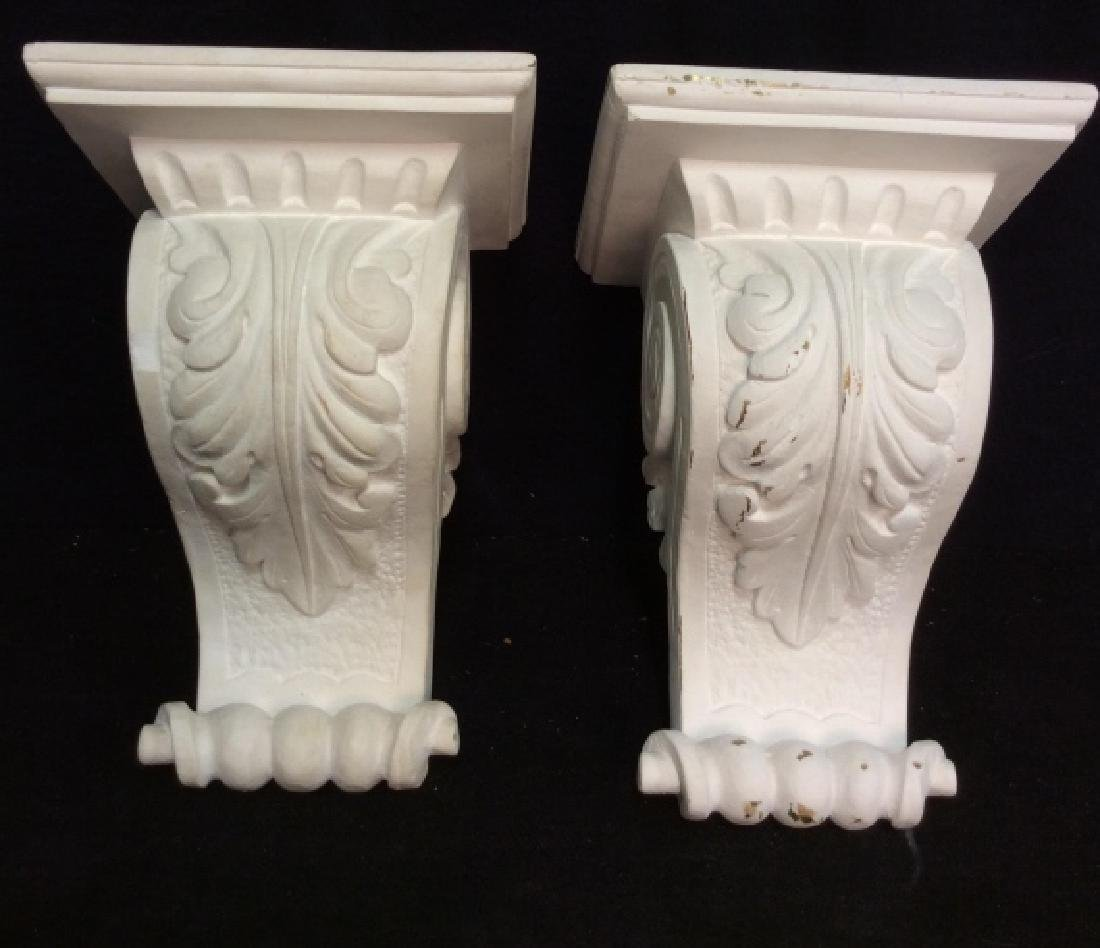 Pair Plaster Filigreed Wall Sconces
