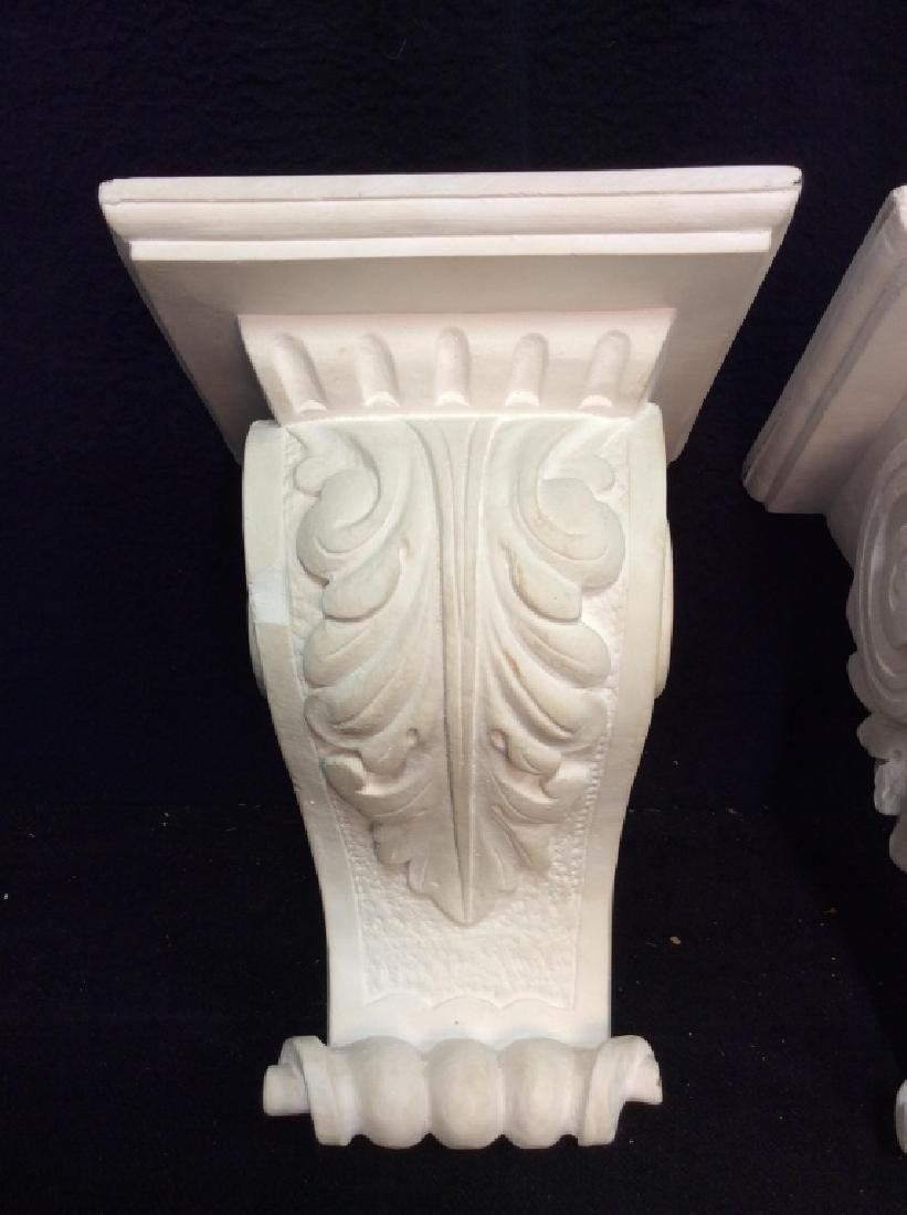 Pair Plaster Filigreed Wall Sconces - 3