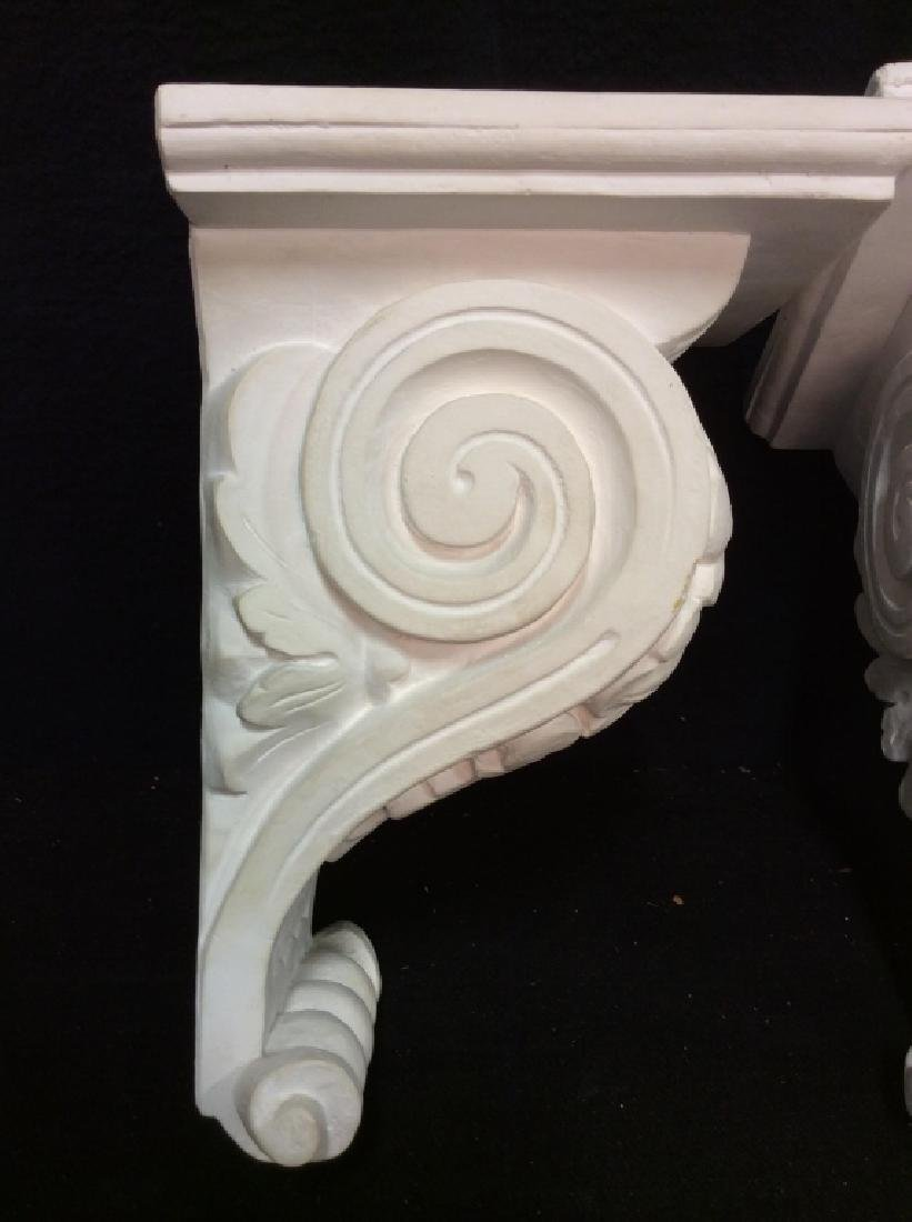 Pair Plaster Filigreed Wall Sconces - 5