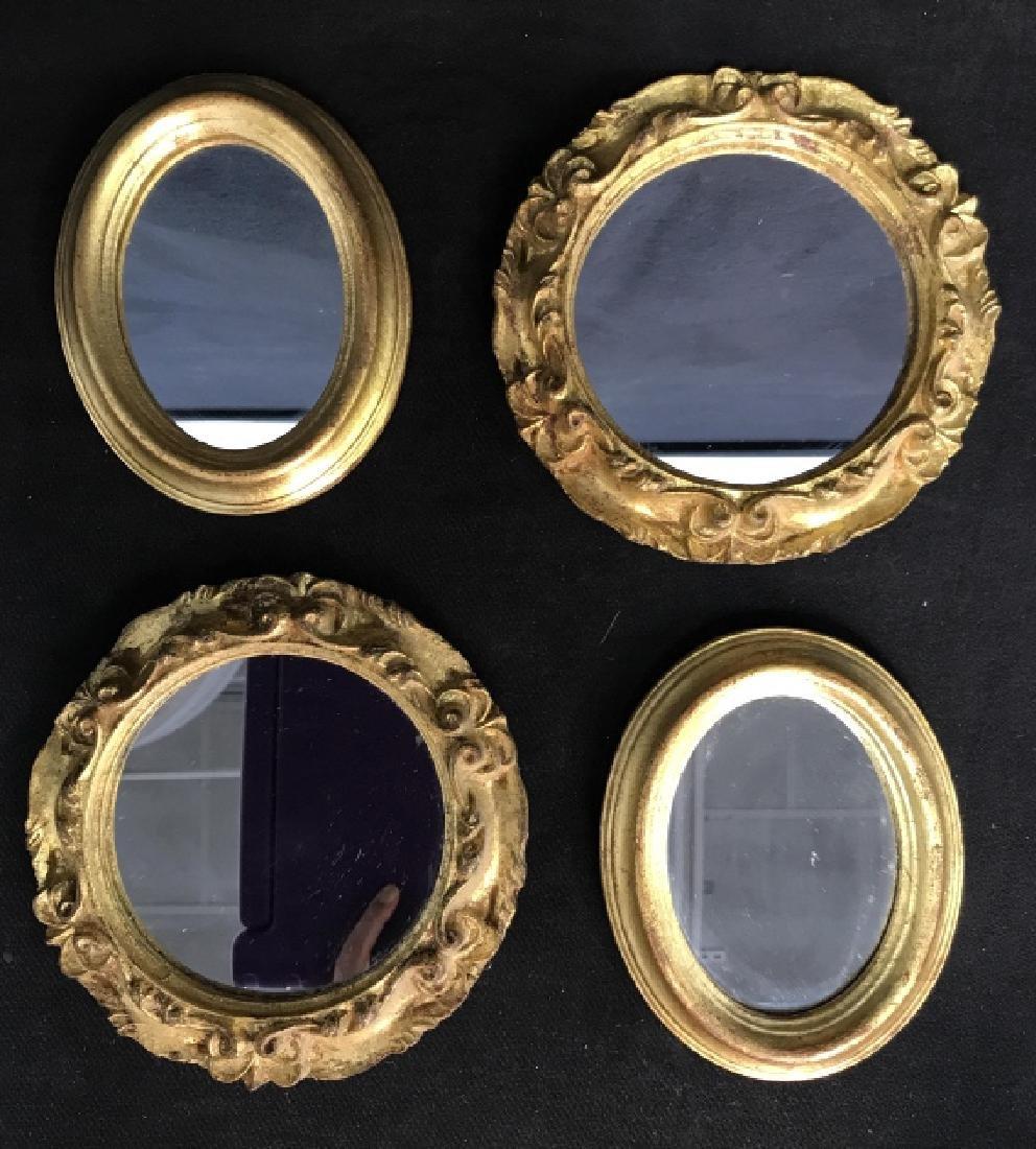 Lot 4 Vintage Italian Hand Made Mirrors