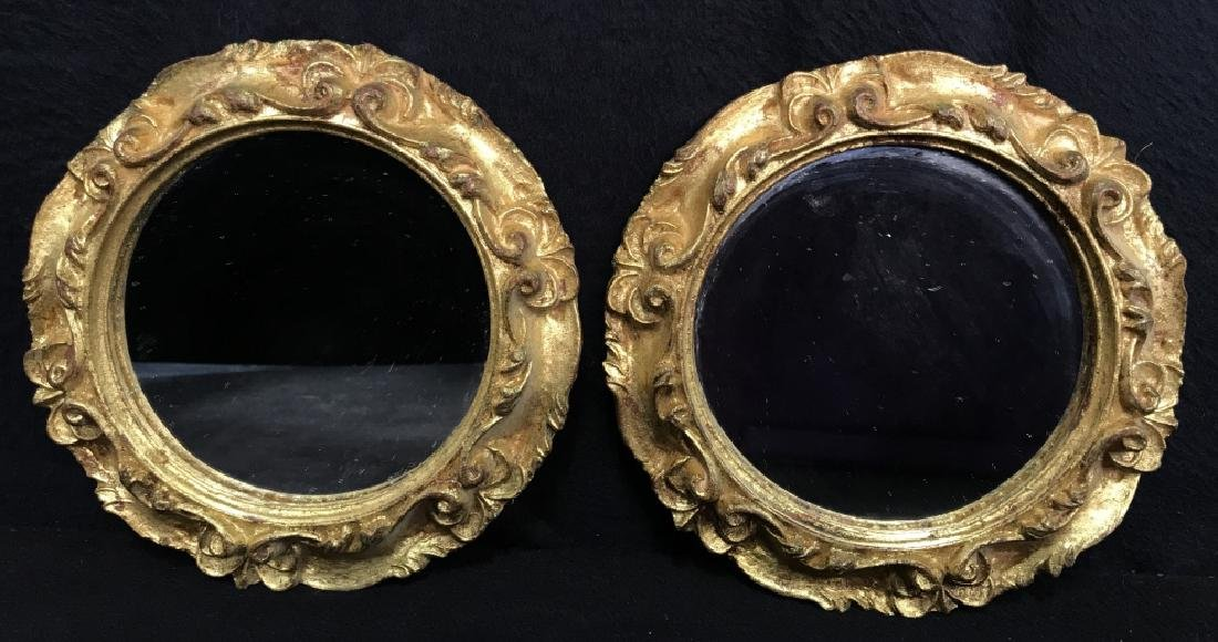Lot 4 Vintage Italian Hand Made Mirrors - 2