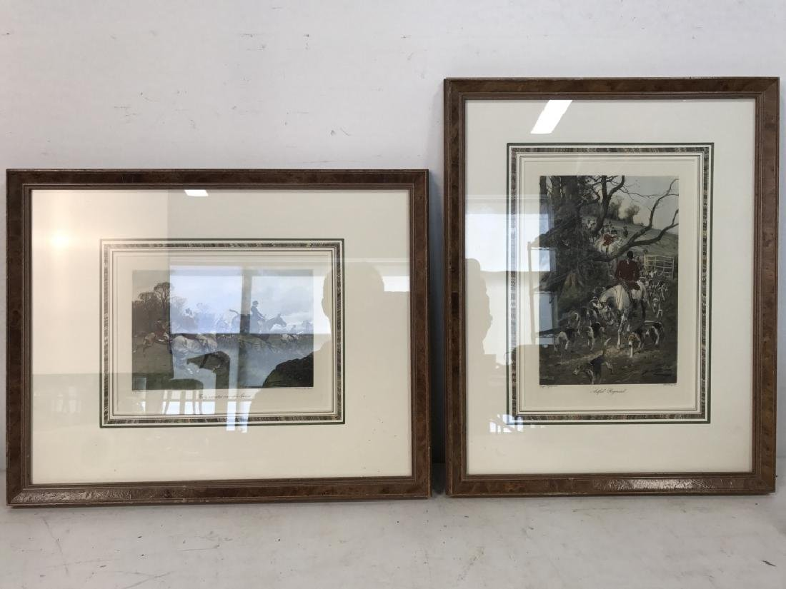 Lot 2 Framed Fox Hunt Prints - 2