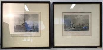 Lot 2 Framed Nautical Prints
