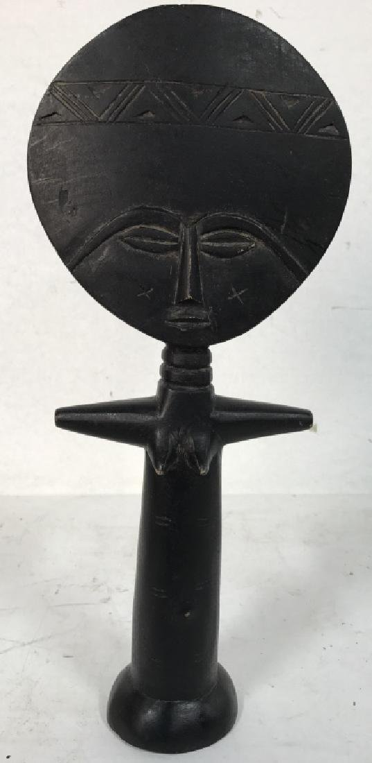 African Style Female Figural Wooden Carving