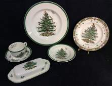 Group Lot SPODE Holiday Dinnerware