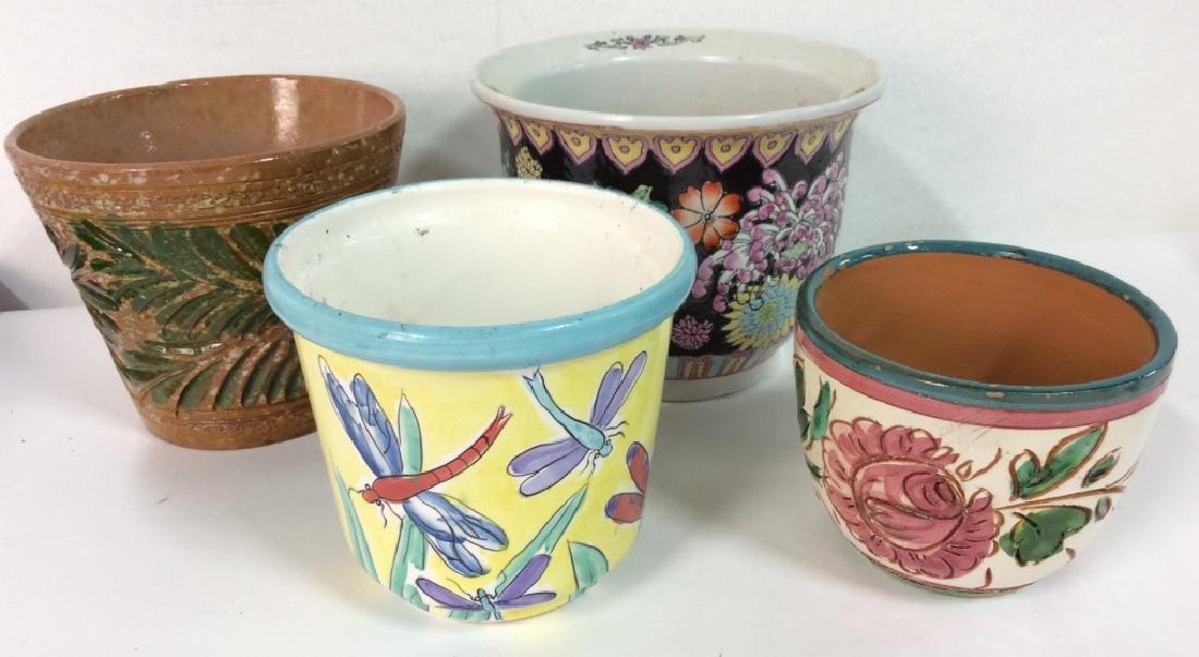 Lot 4 Vintage Planter Vases