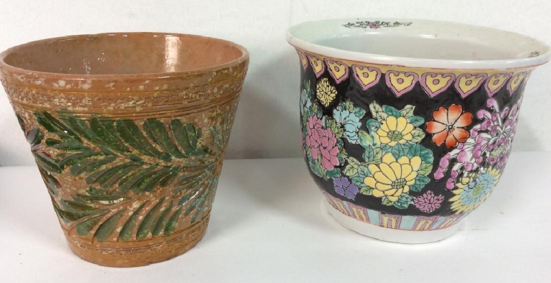 Lot 4 Vintage Planter Vases - 2