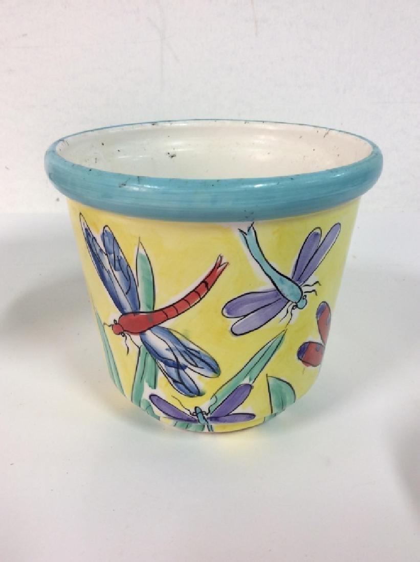Lot 4 Vintage Planter Vases - 7
