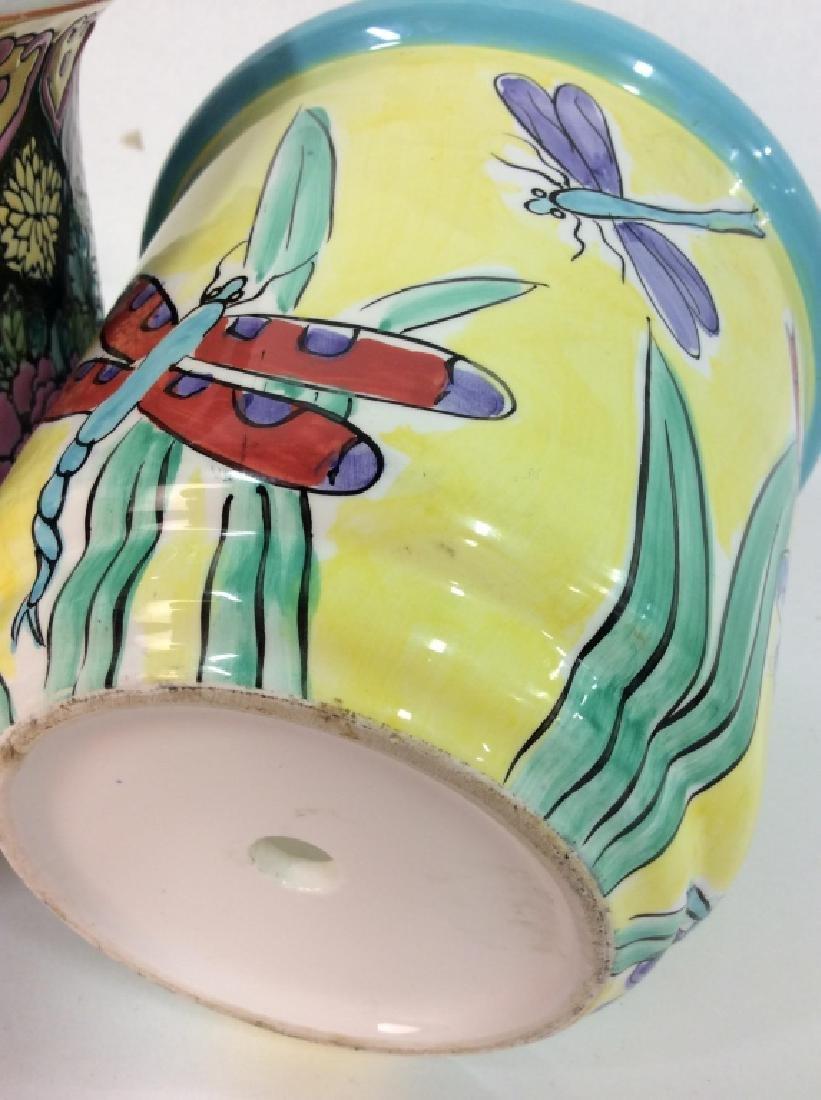 Lot 4 Vintage Planter Vases - 8