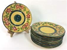 SET 8 FLEUR DE PROVANCE Handpainted Plates