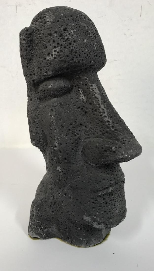 Grey Toned Composite Face Figural - 2
