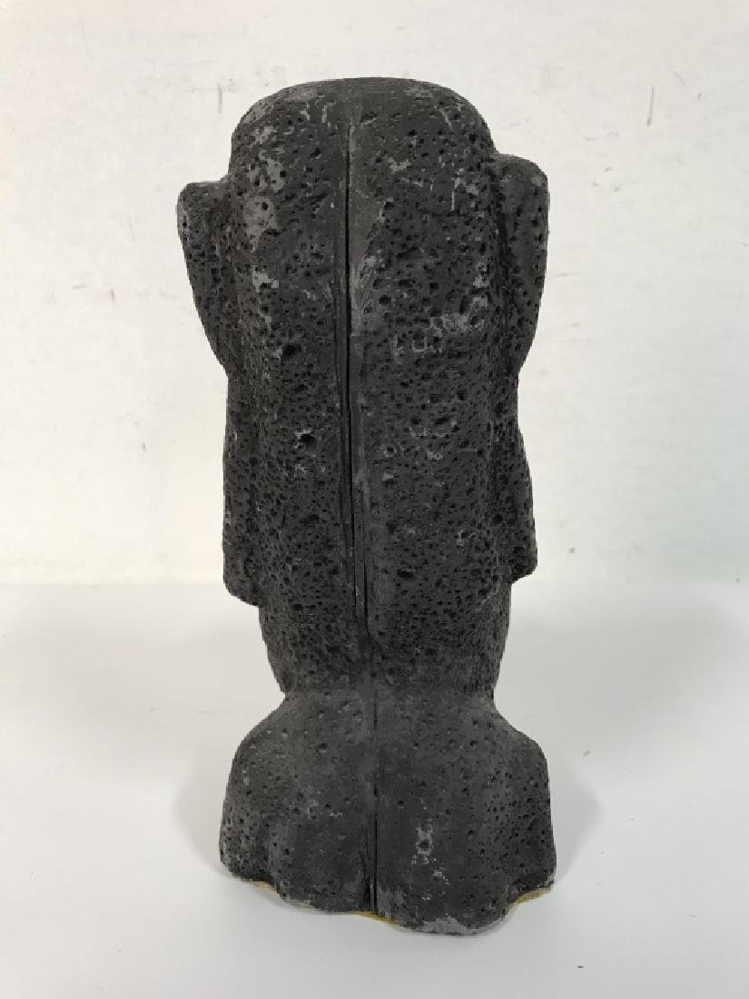 Grey Toned Composite Face Figural - 4