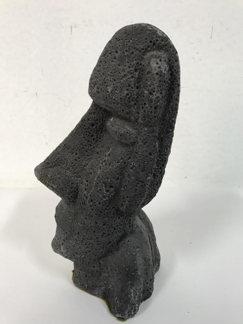 Grey Toned Composite Face Figural - 5