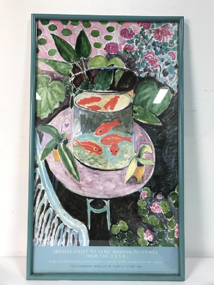 Framed Impressionist Matisse Exhibition Poster