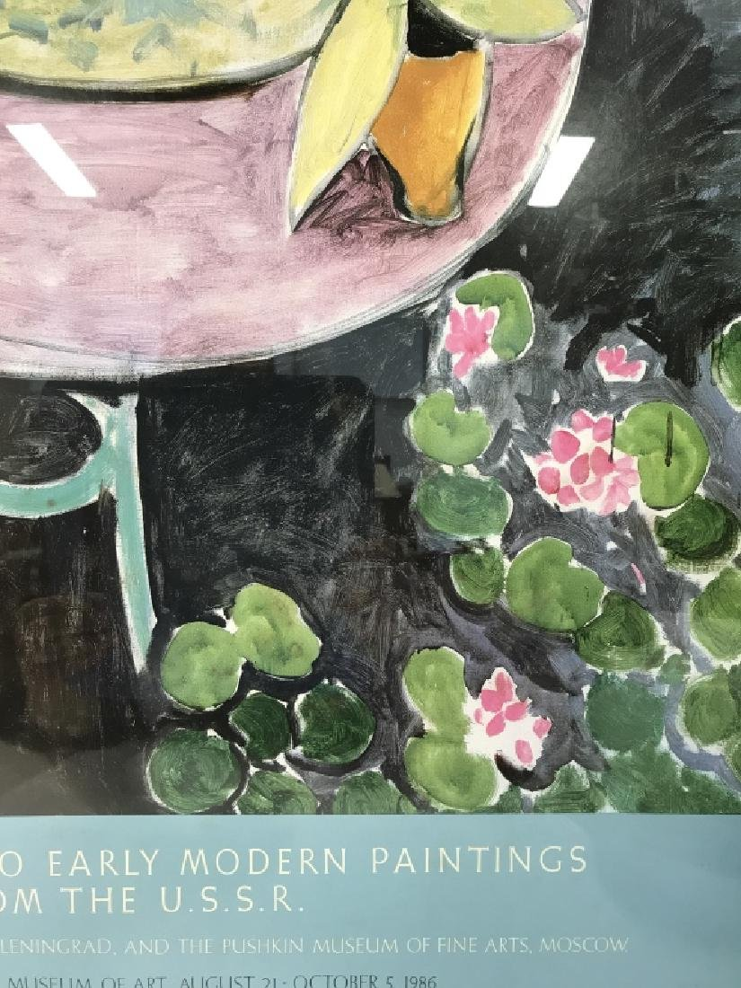 Framed Impressionist Matisse Exhibition Poster - 3