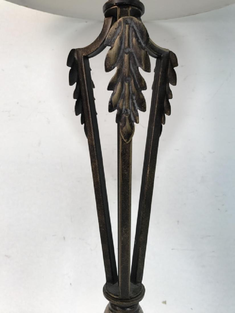 Bronze Toned Metal Lamp W Shade - 3