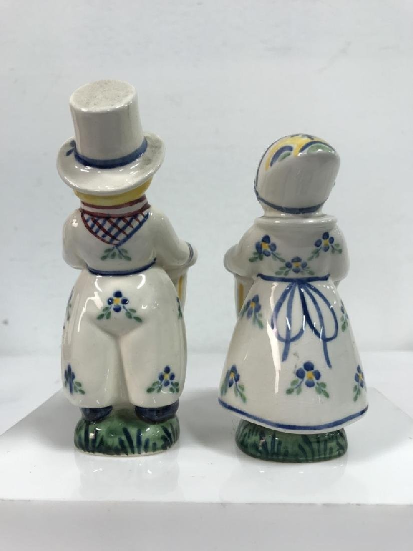 Pair Of Hand Painted Ceramic Vases Denmark - 5