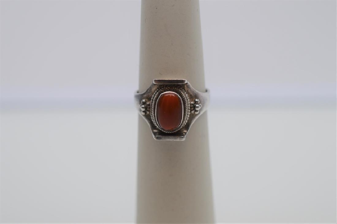 Antique Sterling Silver Bangle Bracelet&Ring - 2