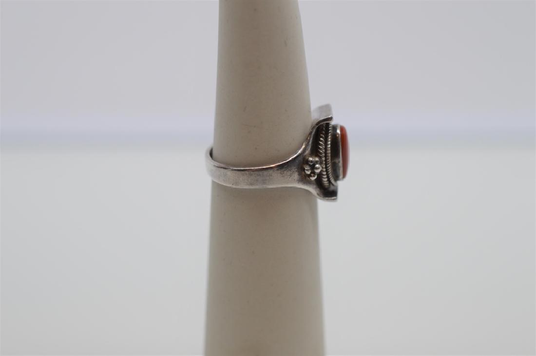Antique Sterling Silver Bangle Bracelet&Ring - 3