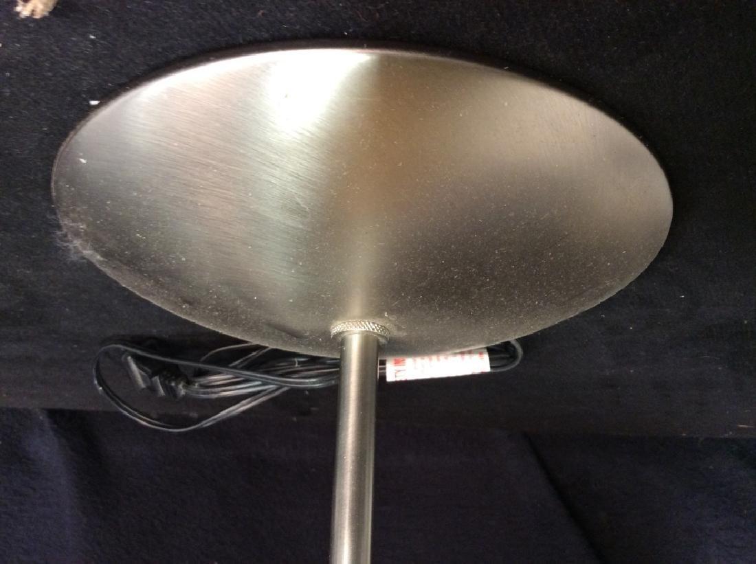 Slim Body Wooden & Metal Lamp W Shade - 4