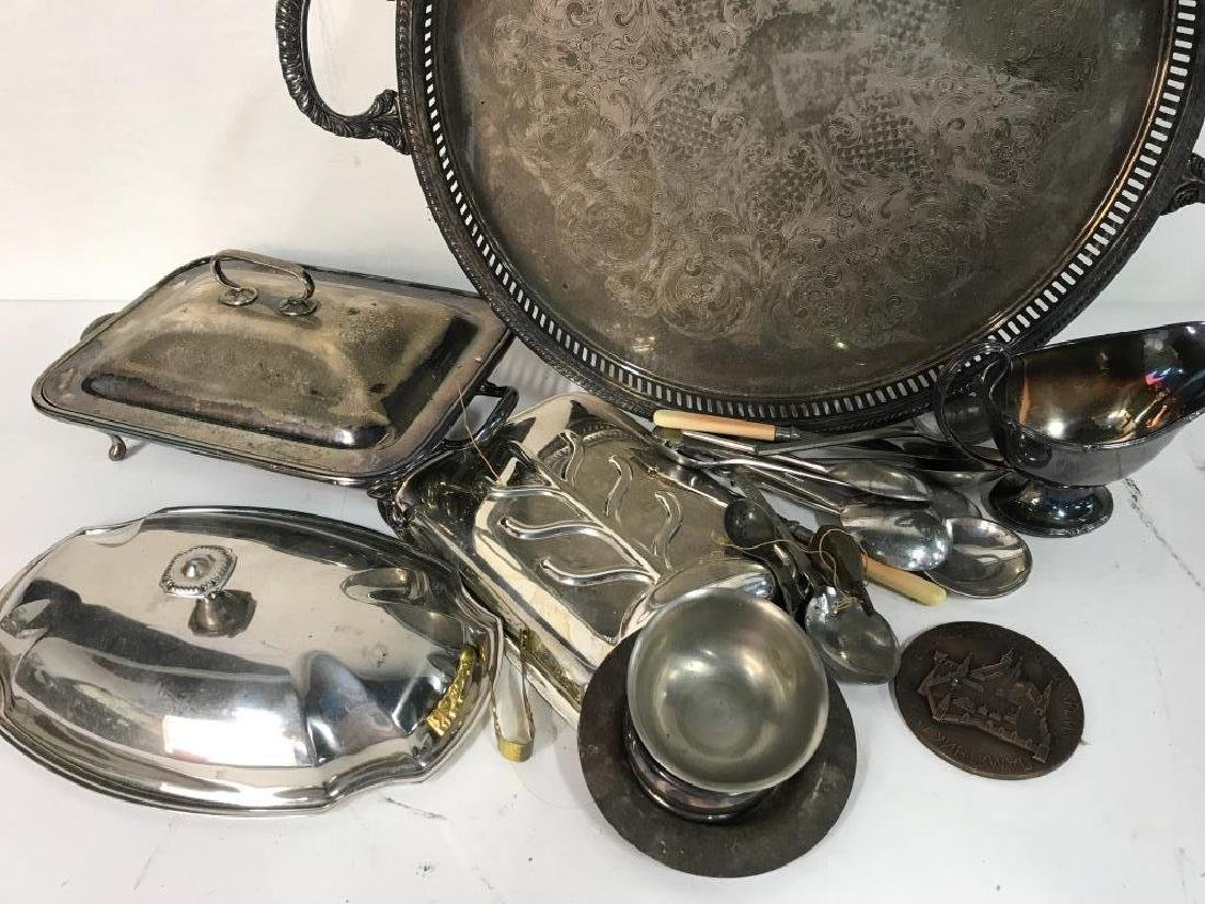 Group Lot Vintage Silver Plate Table top - 2