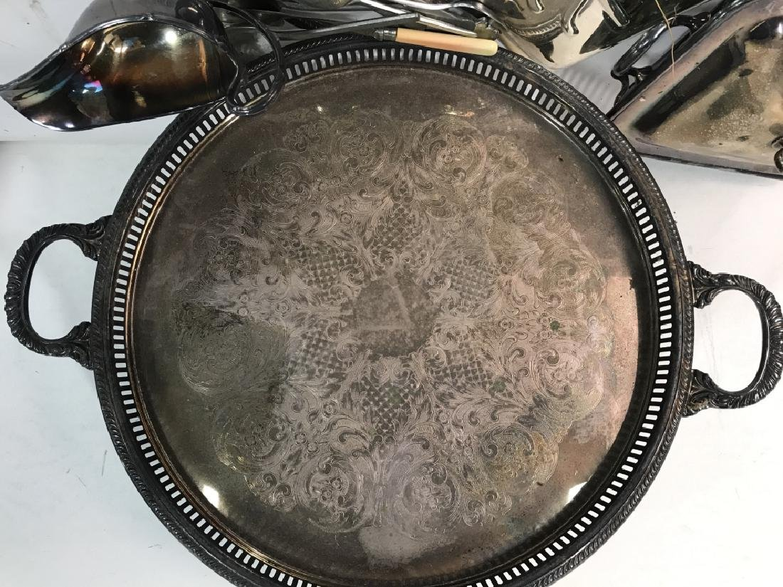 Group Lot Vintage Silver Plate Table top - 4