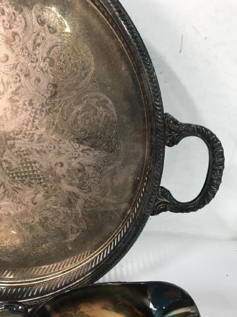 Group Lot Vintage Silver Plate Table top - 6