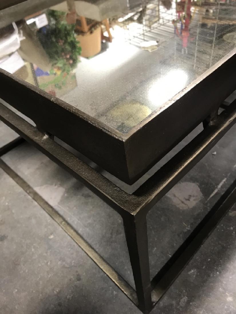 Mirror Top Metal Coffee Table - 5