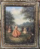 Framed Oil On Canvas By ANDRE LAMBERT