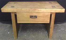 Pine Wooden Side Table With Drawer