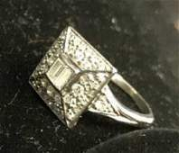 Art Deco Platinum Diamond Ring Jewelry