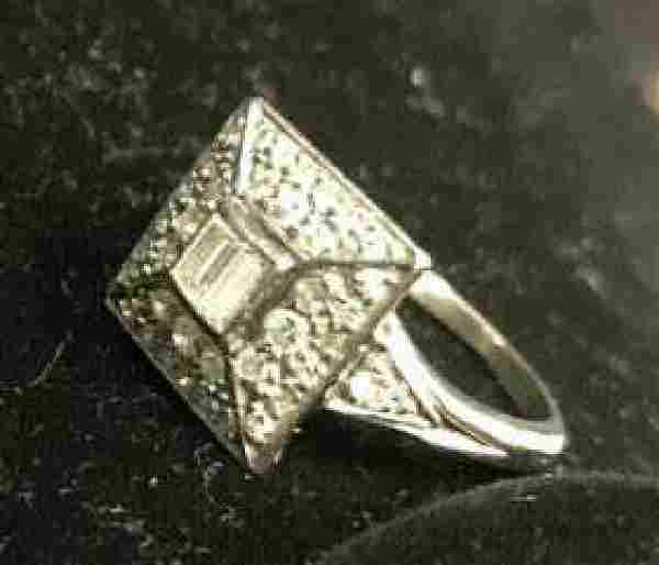 Art Deco Platinum Diamond Ring Jewelry