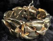 14k Gold Chunky Bracelet Made in Italy